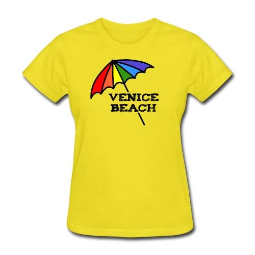 Venice Beach Rainbow Umbrella - Women's T-Shirt
