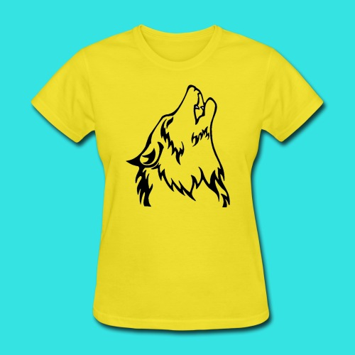 Wolf (back) - Women's T-Shirt