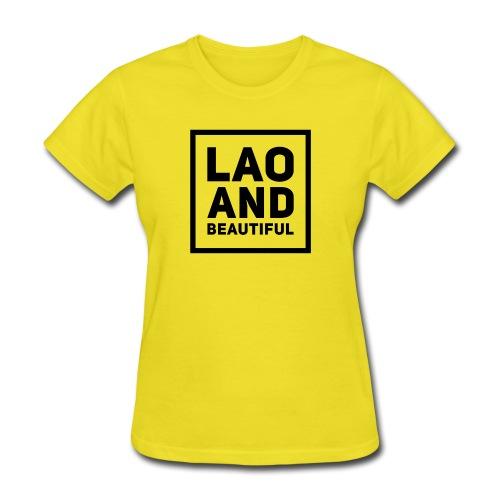 LAO AND BEAUTIFUL black - Women's T-Shirt