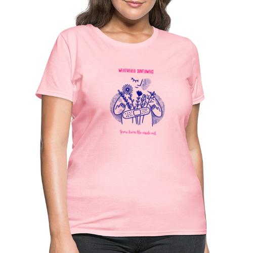 Weathered Sunflowers Grow From The Inside Out - Women's T-Shirt