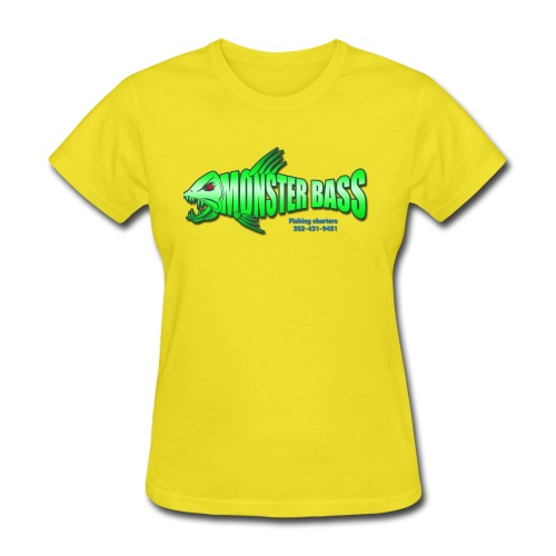 Monster bass fishing charters - Women's T-Shirt