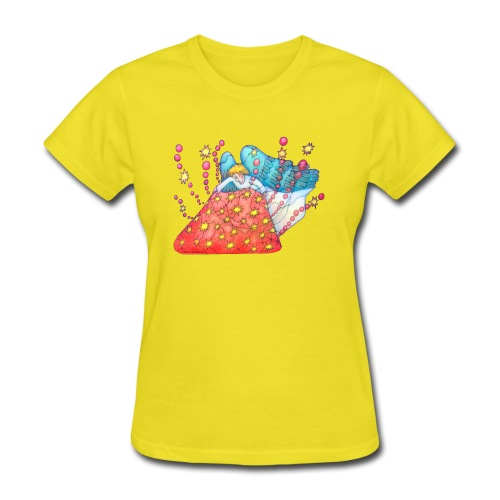 An angel spreading the road - Women's T-Shirt