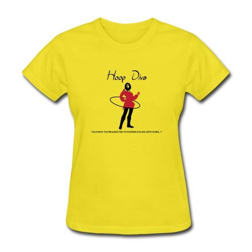 Hoop Diva - Red - Women's T-Shirt