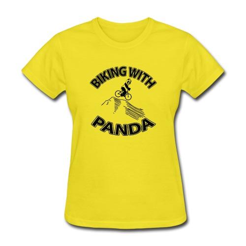 Biking with Panda - Women's T-Shirt
