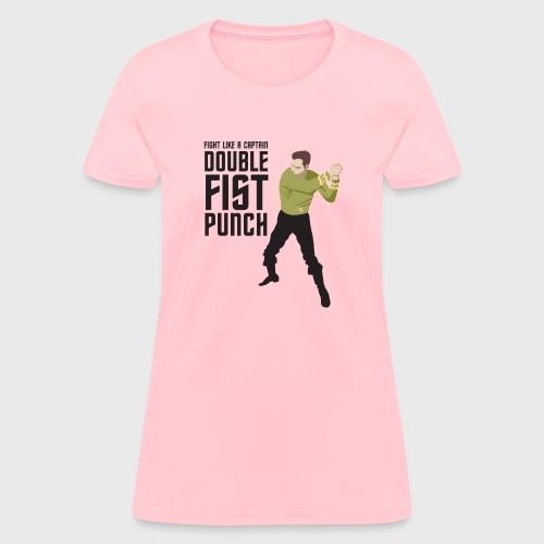 Captain Kirk Double Fist Punch - Women's T-Shirt