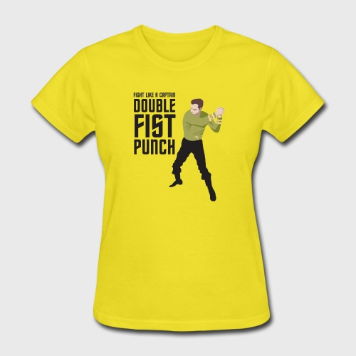 Captain Kirk Double Fist Punch - Women's T-Shirt