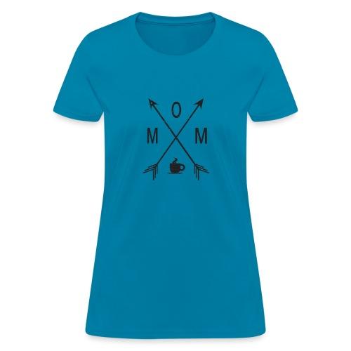 Mom Loves Coffee (black ink) - Women's T-Shirt
