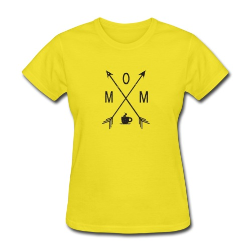 Mom Loves Coffee (black ink) - Women's T-Shirt