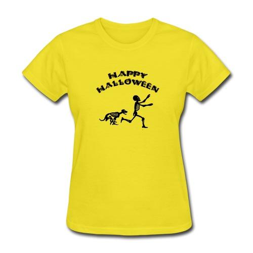 Halloween Boy and Dog - Women's T-Shirt
