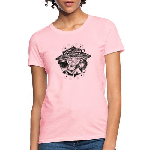 Egyptian Pharaoh Pyramid Alien UFO - Women's T-Shirt