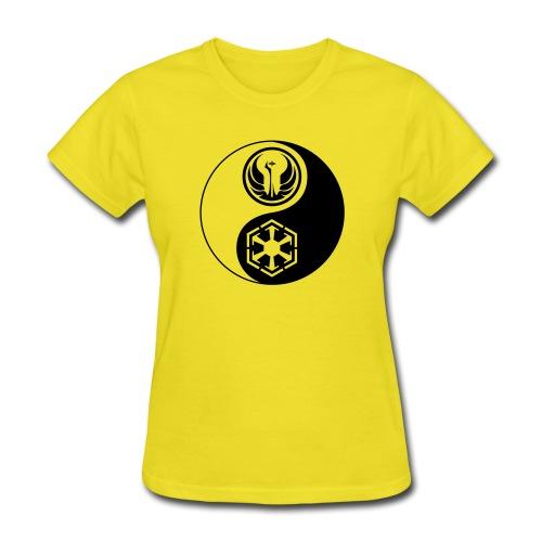 Star Wars SWTOR Yin Yang 1-Color Dark - Women's T-Shirt