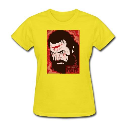 BRUISER BRODY Wrestling legend art print - Women's T-Shirt
