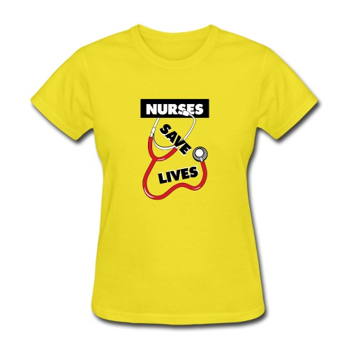 Nurses save lives red - Women's T-Shirt