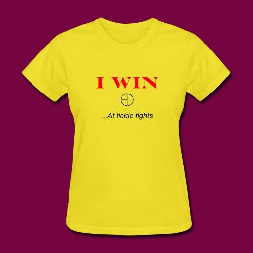 I WinAt Tickle Fights - Women's T-Shirt