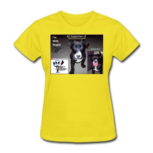 OTchanCharlieRoo with Crew Back Logo - Women's T-Shirt