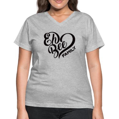 EhBeeBlackLRG - Women's V-Neck T-Shirt