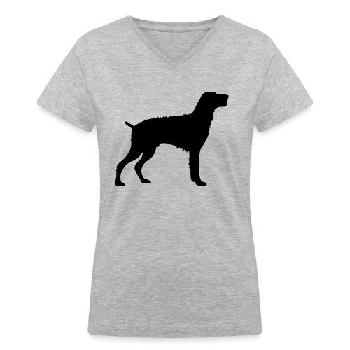 German Wirehaired Pointer - Women's V-Neck T-Shirt