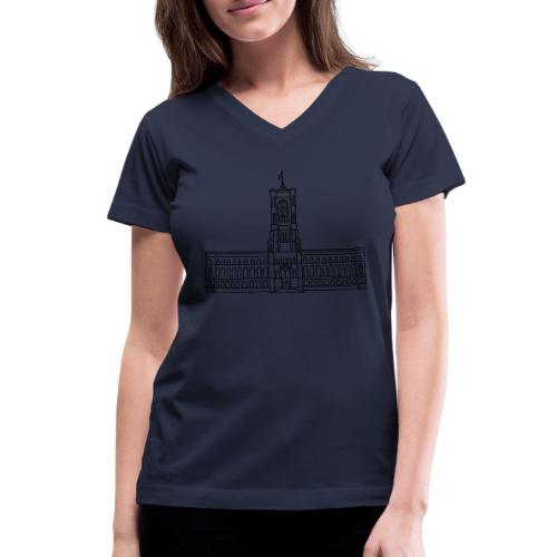 Red City Hall Berlin - Women's V-Neck T-Shirt