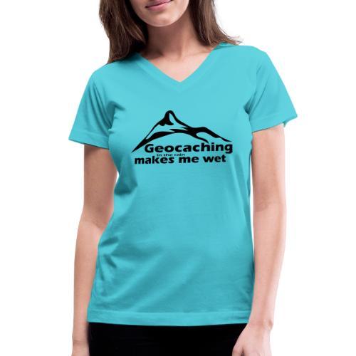 Wet Geocaching - Women's V-Neck T-Shirt