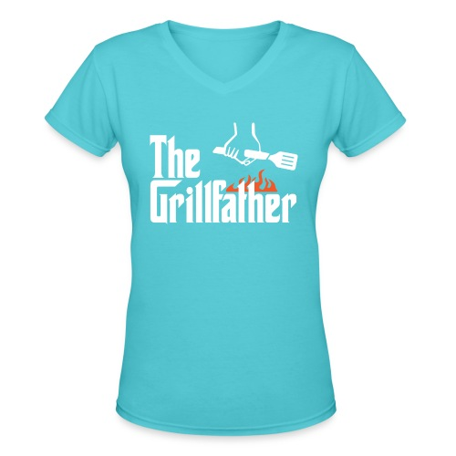 The Grillfather - Women's V-Neck T-Shirt