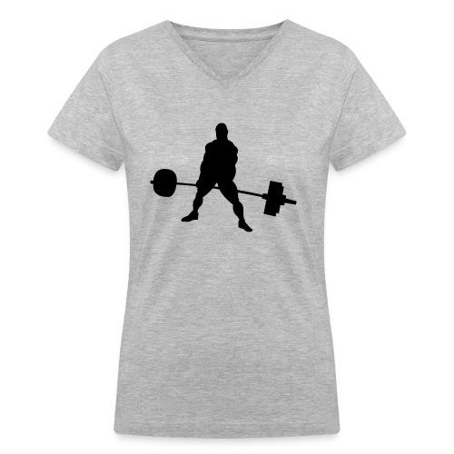 Powerlifting - Women's V-Neck T-Shirt
