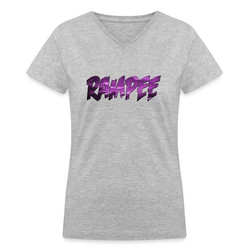 Purple Cloud Rampee - Women's V-Neck T-Shirt