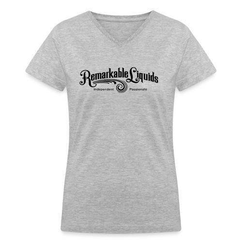 RLMAINBLACK - Women's V-Neck T-Shirt