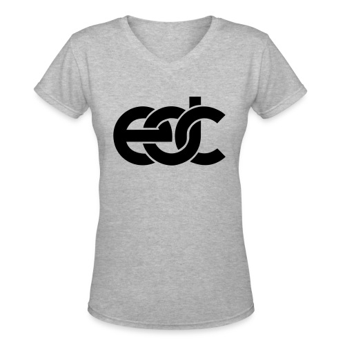 EDC Electric Daisy Carnival Fan Festival Design - Women's V-Neck T-Shirt