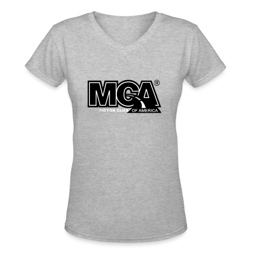 MCA Logo WBG Transparent BLACK TITLEfw fw png - Women's V-Neck T-Shirt