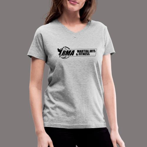 RMA-full-logo-Front-1clr- - Women's V-Neck T-Shirt