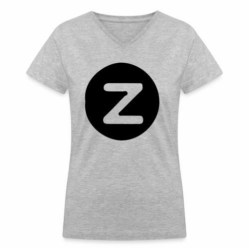 z logo - Women's V-Neck T-Shirt