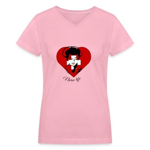 nurselife - Women's V-Neck T-Shirt