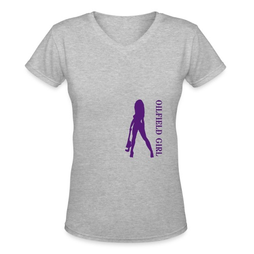oilfieldgirl - Women's V-Neck T-Shirt