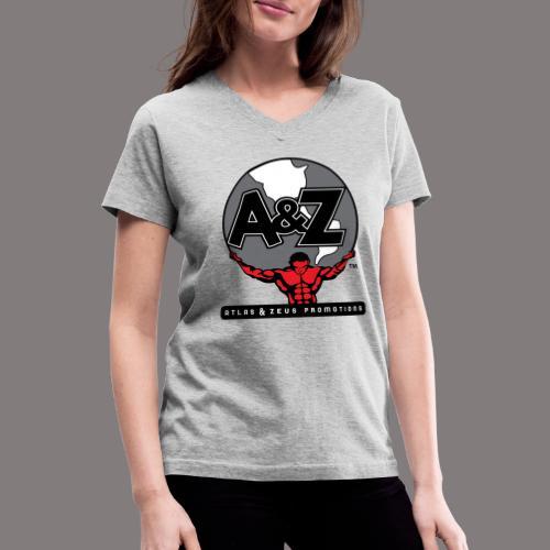 A Z Logo Randy Santel - Women's V-Neck T-Shirt