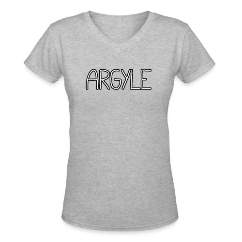 Argyle - Women's V-Neck T-Shirt