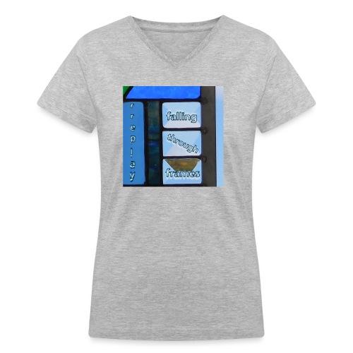 Falling Through Frames - rreplay - Women's V-Neck T-Shirt