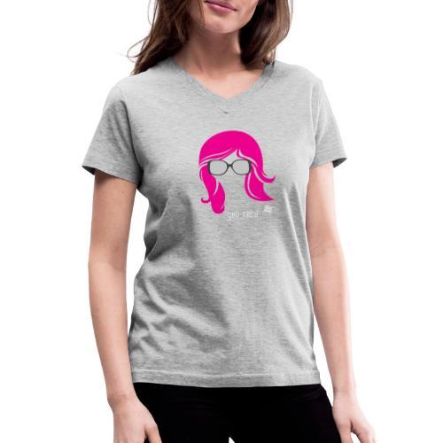 Geo Nerd (her) - Women's V-Neck T-Shirt