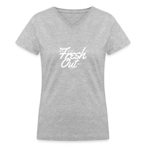 Fresh Out Beats Logo 24 - Women's V-Neck T-Shirt