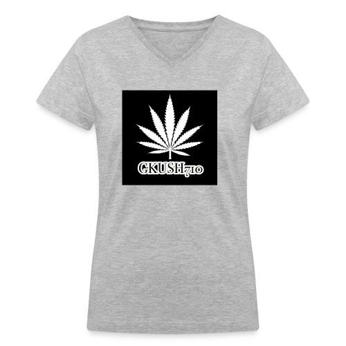 Weed Leaf Gkush710 Hoodies - Women's V-Neck T-Shirt