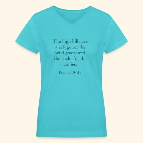 High Hills KJV - Women's V-Neck T-Shirt