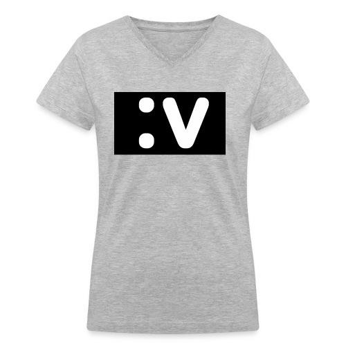 LBV side face Merch - Women's V-Neck T-Shirt