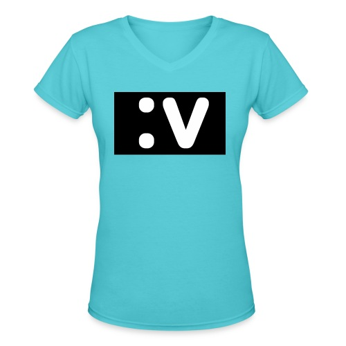 LBV side face Merch - Women's V-Neck T-Shirt