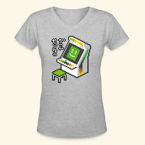 Pixelcandy_AW - Women's V-Neck T-Shirt