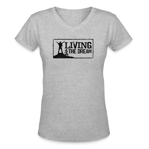 Women's Living the Dream Long-Sleeve T-Shirt - Women's V-Neck T-Shirt