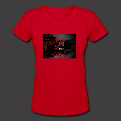 RedOpz Splatter - Women's V-Neck T-Shirt