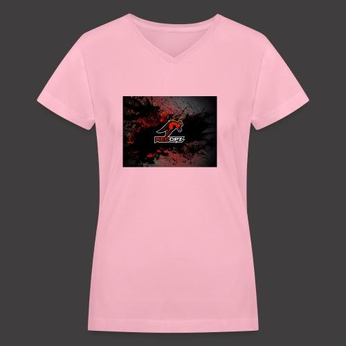 RedOpz Splatter - Women's V-Neck T-Shirt
