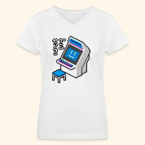 Pixelcandy_BC - Women's V-Neck T-Shirt