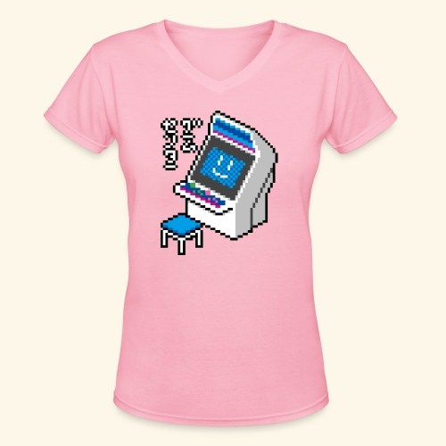Pixelcandy_BC - Women's V-Neck T-Shirt