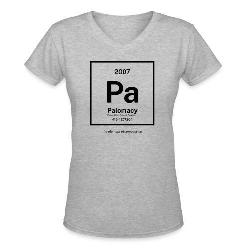 Palomacy: Element of Compassion (Black) - Women's V-Neck T-Shirt