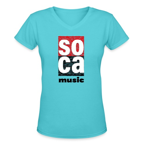 Soca music - Women's V-Neck T-Shirt